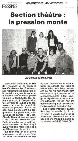La NR du 28/01/2000