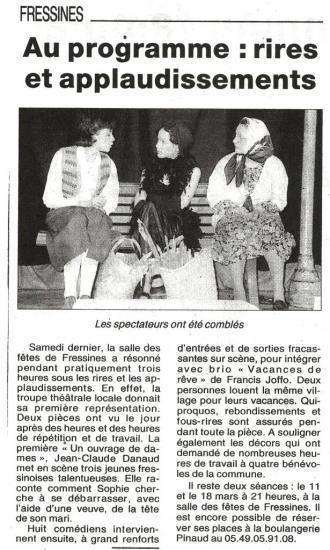 La NR de mars 2000