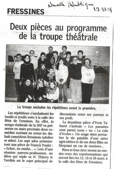 La NR du 29/12/2004