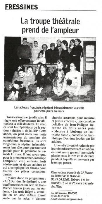 La NR du 09/02/2006