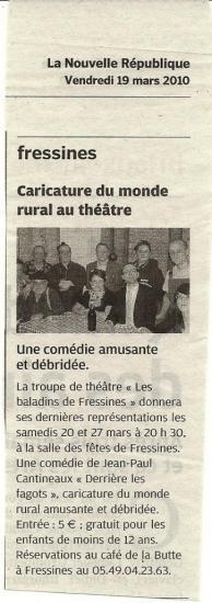 La NR du 19/03/2010