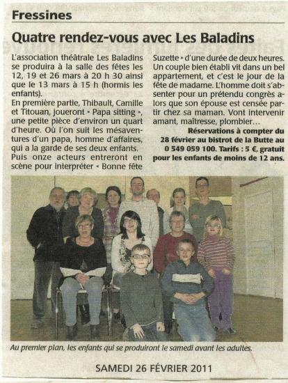 La NR of 02/26/2011