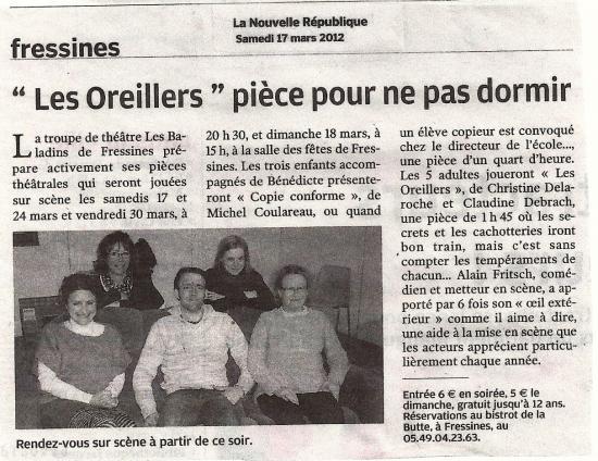 La NR of 03/17/2012