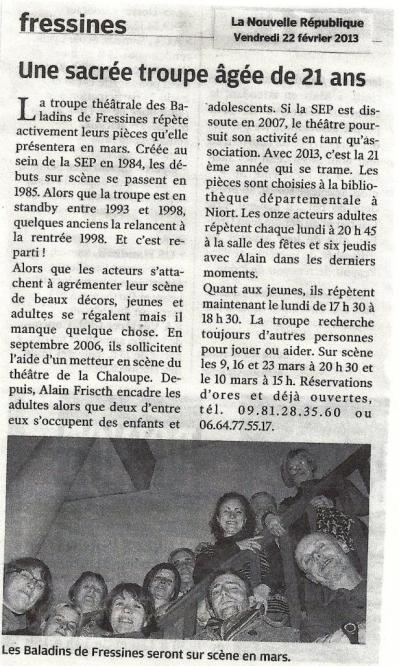 La NR du 22/02/2013