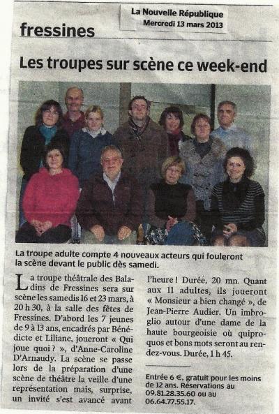 La NR du 13/03/2013