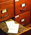 Tiroir des archives